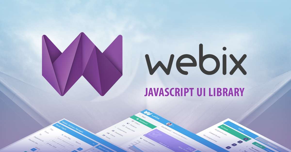 Webix – JavaScript UI library and framework