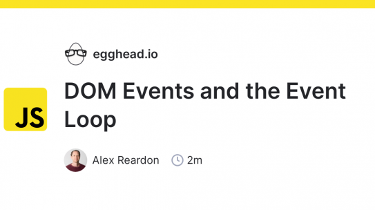 javascript: DOM Events and the Event Loop
